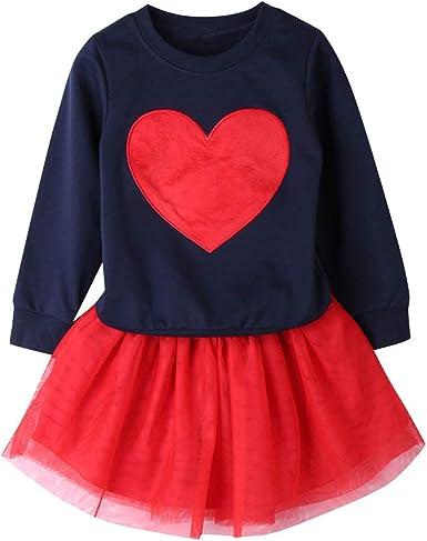 Jean Pantalon 2PCS sets Enfant Bébé Filles Tenues Vêtements T-shirt Tops Robe