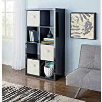 Modern Better Homes and Gardens 8-Cube Organizer, by Better Homes and Gardens (High Gloss Black Lacquer)
