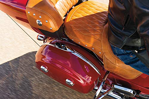 Kuryakyn 5670 Motorcycle Accent Accessory: Saddlebag Trim Top for 2014-19 Indian Motorcycles, Chrome