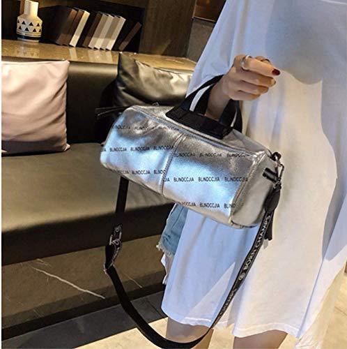 reistas brede met maat zilver grote schoudertas capaciteit kleur groen 29x16x13cm Oudan wEtSdq1S