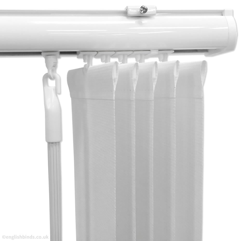 eXtreme® Top Quality Slimline White Headrail For 3.5