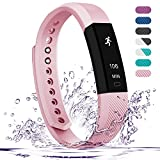 Teslasz Fitness Tracker, Sleep Monitor Calorie Counter Pedometer Sport Activity Tracker for Android and iOS Smart Phone,Pink