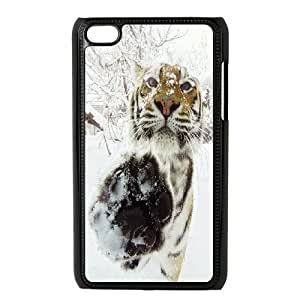 [Tony-Wilson Phone Case] FOR IPod Touch 4th -IKAI0447335-Powerful Tiger Pattern