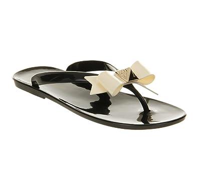 ade245d74c61 Ted Baker Polee Flip Flop Black Cream Pvc - 7 UK  Amazon.co.uk  Shoes   Bags