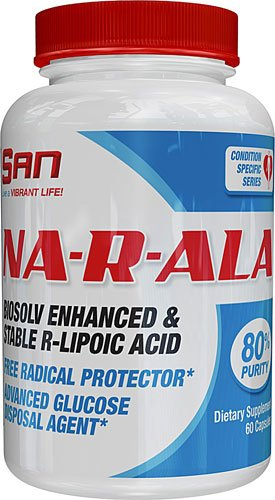 San Na-R-ALA Alpha Lipoic Acid -- 100 mg - 60 Capsules - 3PC by SAN Nutrition