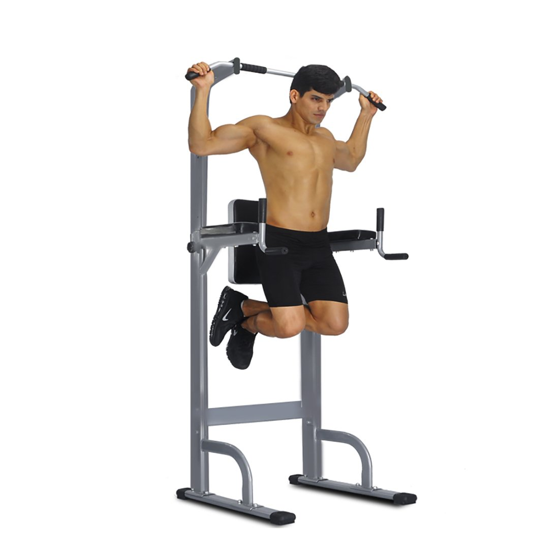 Power Tower Rack - Full Body Strength Pull Up Station Adjustable Power Tower Standing Tower,Gym Sports Workout Fitness Equipment 550 Lbs Pull Up Tower by FEIERDUN