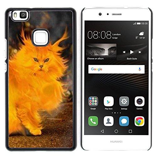 STPlus Gato en una caja Animal Carcasa Funda Rigida Para Huawei P9 Lite #12