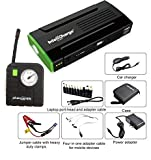 InteliCharge X1 13600mAh Portable Power Bank and Tire Compressor Bundle with Jumper Cable