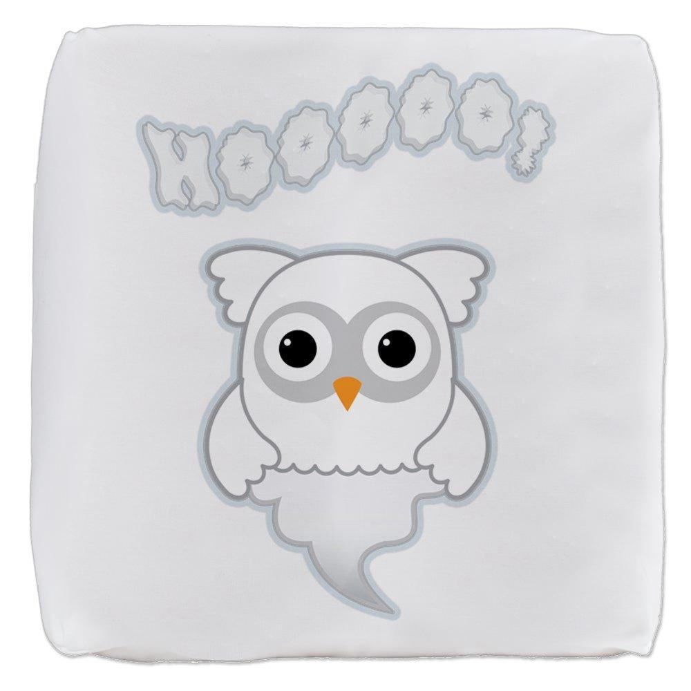18 Inch 6-Sided Cube Ottoman Spooky Little Ghost Owl