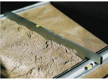 Triuso Abziehlehre 125 cm passend zu Grundschiene Trockenschü ttgutlehre Abziehlatte Pflastern Abziehlehre Abziehschiene