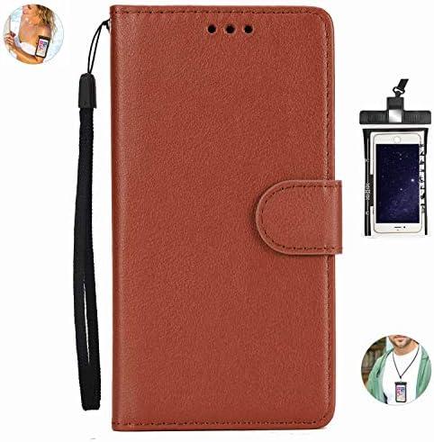 耐汚れ 手帳型 Huawei P20 plus/P20 pro ケース 手帳型 本革 レザー カバー 財布型 スタンド機能 カードポケット 耐摩擦 全面保護 人気 アイフォン[無料付防水ポーチケース]