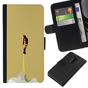 LECELL--Cuero de la tarjeta la carpeta del tirón Smartphone Slots Protección Holder For LG G2 D800 -- HIERRO SUPERHERO --