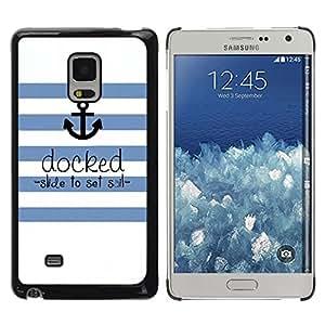 Be Good Phone Accessory // Dura Cáscara cubierta Protectora Caso Carcasa Funda de Protección para Samsung Galaxy Mega 5.8 9150 9152 // Seaman Ships Anchor Quote