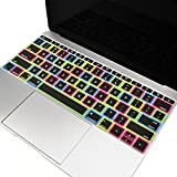 TOP CASE - Candy Black Keyboard Cover Silicone Skin Compatible with MacBook Pro 13 inch Model A1708 (No TouchBar) Release 2017 & 2016 / MacBook 12-inch with Retina Display Model A1534 - Black