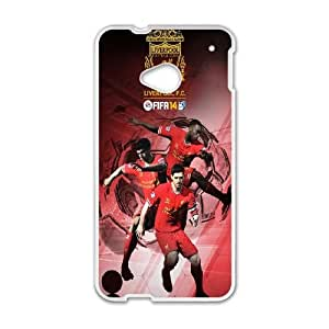 HTC One M7 Cell Phone Case White Fifa 14 Liverpool Ekmnl