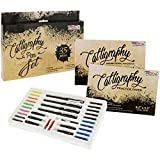 #1: U.S. Art Supply 35 Piece Calligraphy Pen Writing Set - Interchangable Nibs, Paper Pad, Instructions