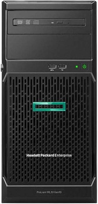HP ProLiant ML30 Gen10 Tower Server Bundle with Intel Xeon E-2124, 16GB DDR4, 2TB SATA, RAID, and 16GB USB Drive