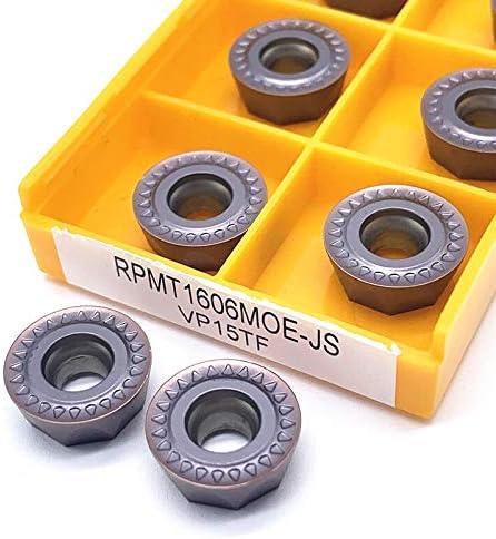 10pcs RPMT 1606 Carbide RPMT1606MOE VP15TF CNC-Drehmaschine Werkzeug Drehen Verschleißwerkzeug Widerstand Hohe Qualität