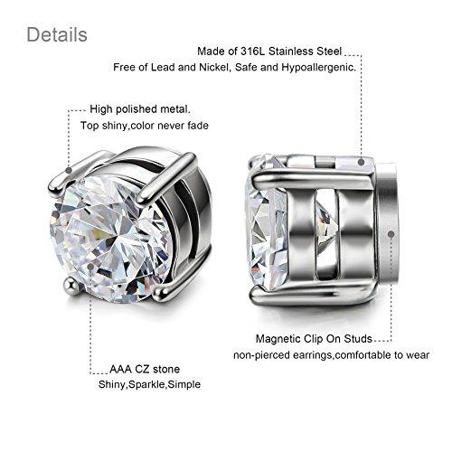 3036d919c LOYALLOOK Stainless Steel Magnetic Stud Earrings for Men Women - Import It  All