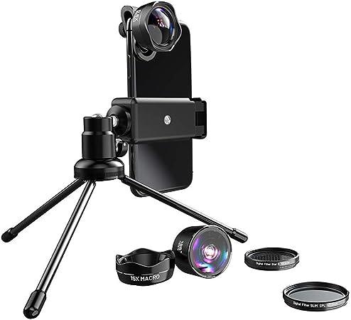 Accesorios lente aplicable a Smartphone Polarizador Kit estrella del teléfono móvil Macropolarizer Ojo Macropolarizer 1 5-en-Ojo de 185 grados / 0.6x Gran Angular / 15x Macro / polarizador / estrellas: Amazon.es: Hogar
