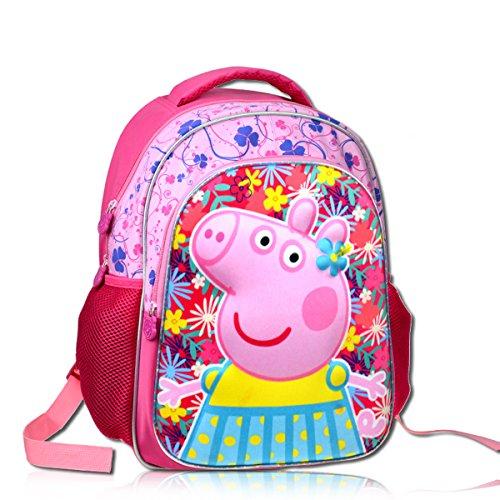 YOURNELO Kid's Cute Cartoon Peppa Pig Rucksack School Backpa