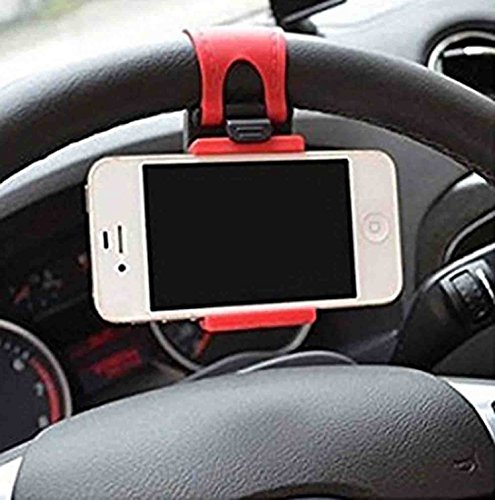 SR Globals 54 76mm Car Steering Wheel Mobile Holder  Multi Color  Model 222149