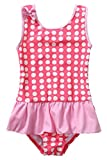 Kyпить Attraco Baby Girls Ruffled Dots One Piece Swimsuit with Bowtie 6 Months на Amazon.com