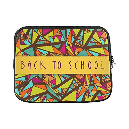 Design Custom Back to School Colorful Card Design with A Yellow Sleeve Soft Laptop Case Bag Pouch Skin for MacBook Air 11