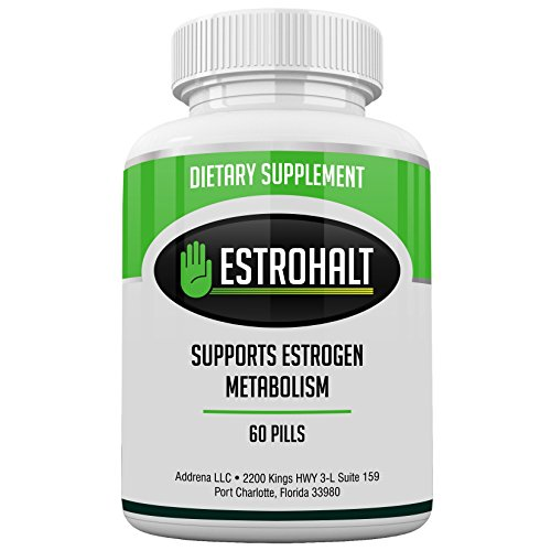 Estrohalt- DIM Supplement (Diindolylmethane) and Indole-3-Carbinol (I3C) Best Estrogen Blocker for Women & Men | Natural Aromatase Inhibitor Vitamin to Help PCOS, Menopause, and PMS