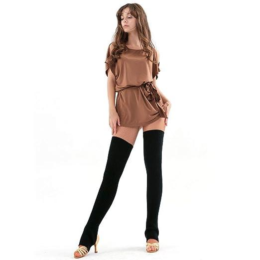 3c6f73144e3e0 Witspace Woman Knitted Extra Long Leg Warmers, 75cm Slouch Stockings  Crochet Leggings Yoga Socks Boot