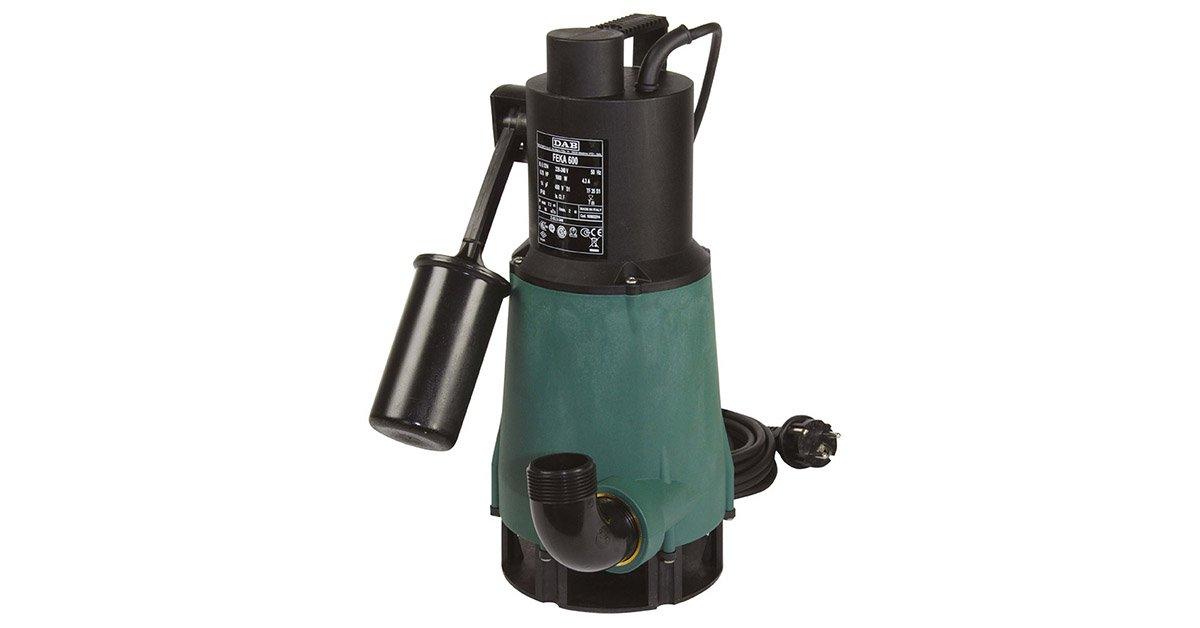Tauchmotorpumpe fEKA 600 m-a sV avec interrupteur /à flotteur et arbre de moteur en acier inoxydable sp/écial