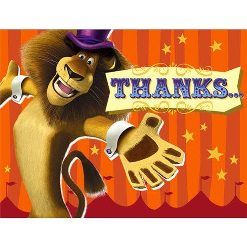 Madagascar 3 Thank-You Notes (8) Party -