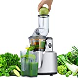 Juicer, Asmind Slow Masticating Juicer Extractor, Cold Press Low Speed Juicer with Brush