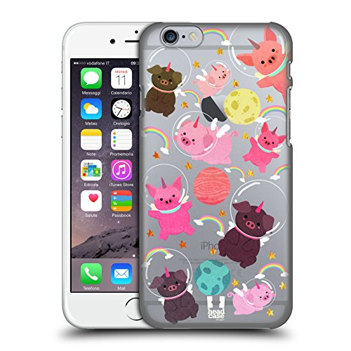 - Head Case Designs Pig Space Unicorns Hard Back Case for Apple iPhone 6 / 6s