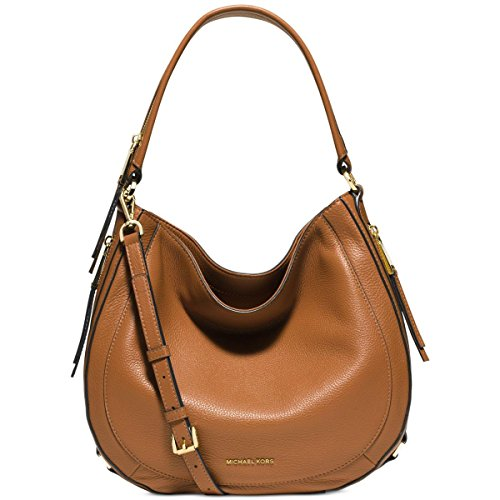 MICHAEL Michael Kors Womens Isabella Leather Convertible Shoulder Bag Tan Medium by MICHAEL Michael Kors