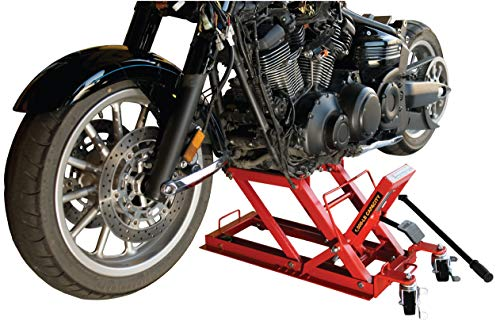 Jack Motorcycle - Torin Big Red Motorcycle / ATV Jack: 3/4 Ton (1,500 lb) Capacity