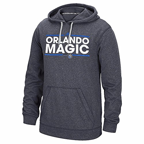 adidas Orlando Magic NBA Grey Ultimate Hood Climawarm Performance Dassler Team Graphic Pullover Hoodie for Men (2XL)