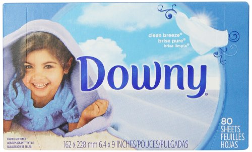 Downy Clean Breeze Fabric Softener Sheets 80 Count (Pack of 9) by Downy