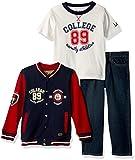 LEE Toddler Boys' 3 Piece Sweater Set, Beckett, 4T