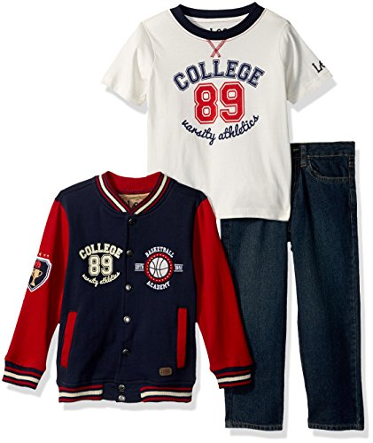 LEE Toddler Boys' 3 Piece Sweater Set, Beckett, 3T