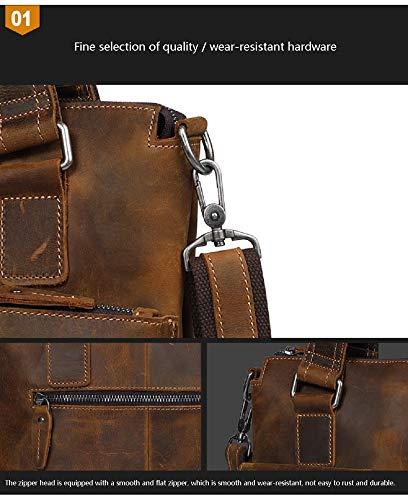 Hommes Pour Porte Crazy D'affaires Hommes Horse Rétro 3 Xwh En documents Décontracté Cuir tout De Fourre Sac 0nHzwqS8
