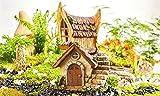 New Miniature Mini Dollhouse FAIRY GARDEN Accessories - Solar Lighted Cozy Chalet Fairy House - Supplies.