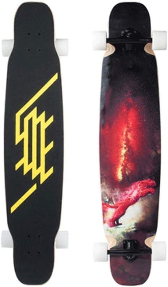 スケートボード U字型フットスケートボード初心者スケートボードプロスケートボード高速サイレントスケートボードビッグホイールスケートボード高密度滑り止めサンドペーパー (Color : 赤) 赤