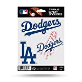 Los Angeles Dodgers Triple Sticker Multi Decal Spirit Sheet Auto Home Baseball