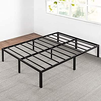 "Best Price Mattress Bed Frame, 14"" Metal Platform Bed Frame w/Heavy Duty Steel Slat Mattress Foundation (No Box Spring Needed), Parent"