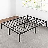 Best Price Mattress Queen Bed Frame - 14 Inch Metal Platform Beds w/ Heavy Duty Steel Slat Mattress Foundation (No Box Spring Needed), Black
