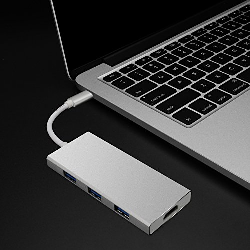 NIUIEME-USB-C-Hub-with-HDMI-3-USB-30-Ports-SDTF-Card-Reader-Type-C-Power-Delivery-Throughput-Port-for-MacBook-Pro-Google-Chromebook-and-More