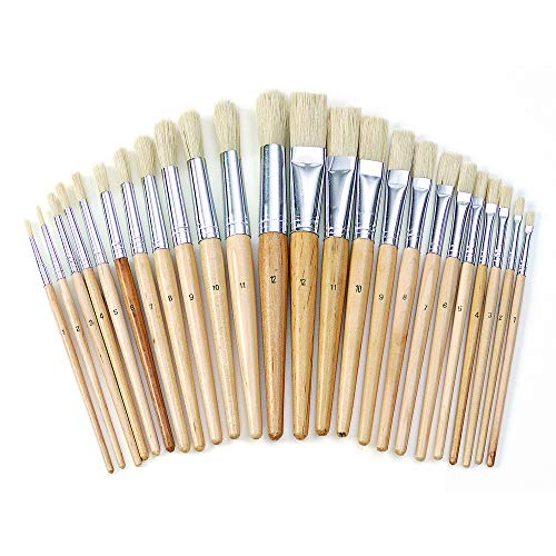 (Colorations Easel Paint Brushes Assortment Value Pack Classroom Size Art Supplies for Painting (24 Pack))