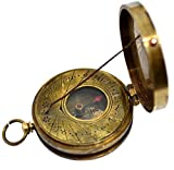 Brass Nautical 1.8 inch Brass Sundial Compass Nautical Gift from