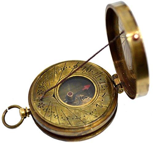 Brass Nautical 1.8 inch Brass Sundial Compass Nautical Gift from (Sundial Charm)